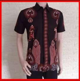 Baju batik atau kemeja batik pria lengan pendek