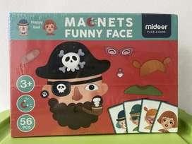Mideer Puzzle Magnet Funny Face - Mainan Edukasi Anak