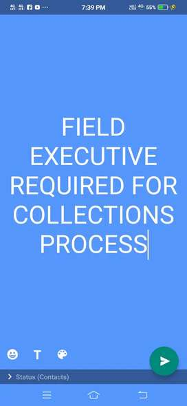 Field Executive Required For Collections Process