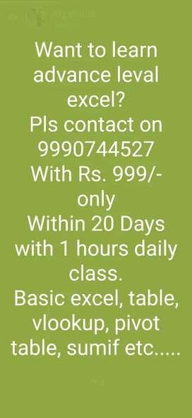 Online excel classes