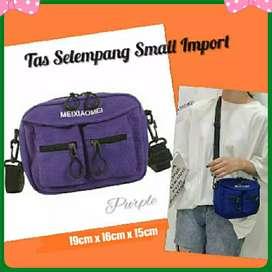 New Tas Selempang Small Kanvas Purple  Import