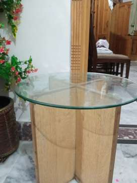 Round glass table and large glass table center table