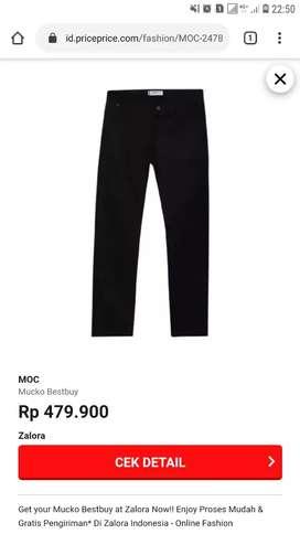 Jual celana chinos merk MOC  size 30