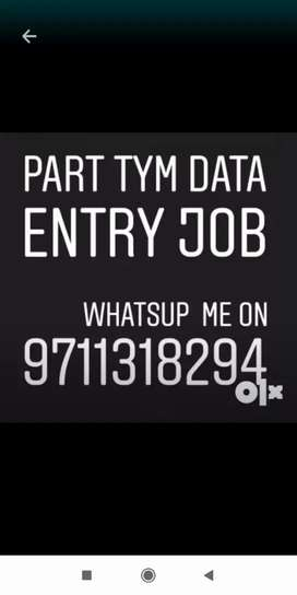 Excellent typing work in data entry job part for all India