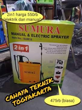 PROMO ONGKIR (CAHAYA TEKNIK) sprayer penyiram hama komplet bergaransi
