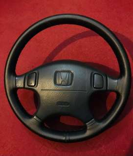 Honda Civic Ferio SRS 4 spokes steering wheel hand stitched