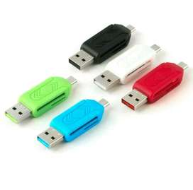 Card Reader 2 Slot Micro USB