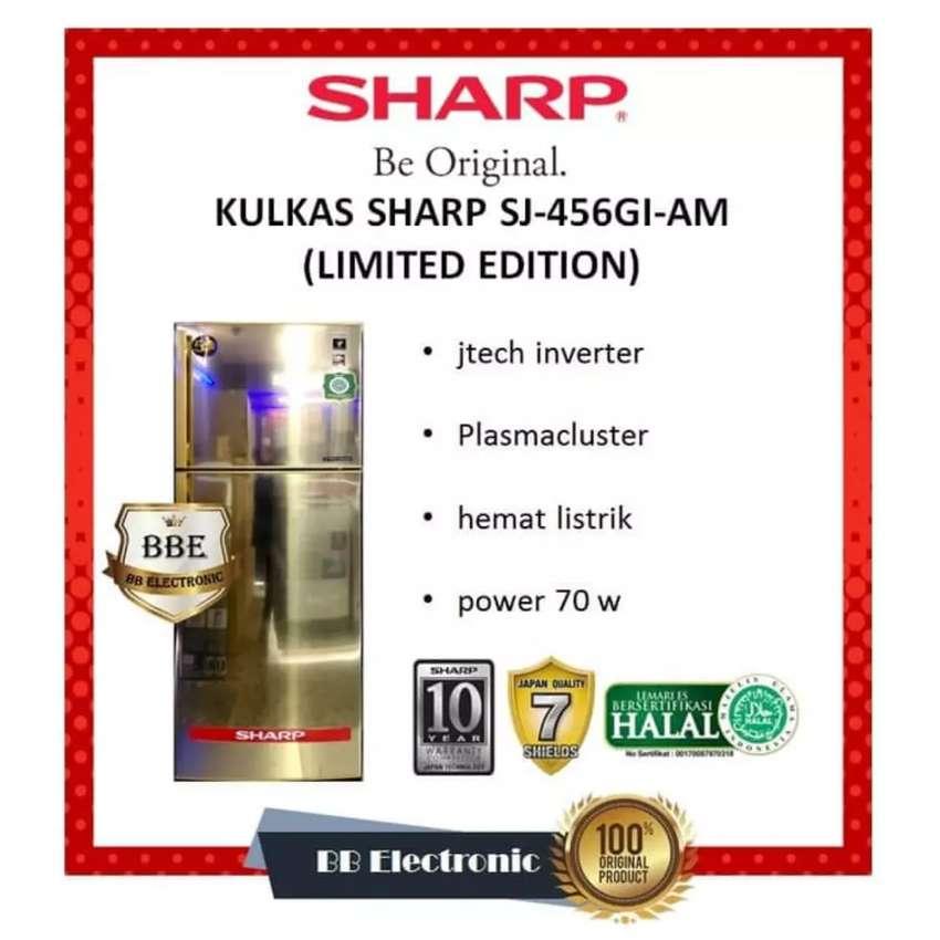 Lemari es 2 pintu Sharp SJ-458 GI-AM 450 L 0