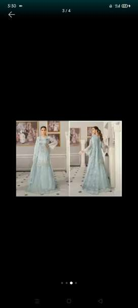 Sky blue coloue lehnga with dupata and can..