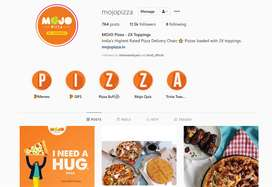 Delivery Executive In Mojo pizza and Box8 desi Meals