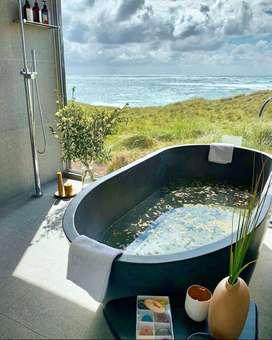 Bathtub Sumarorong Mewah Elegant Terrazzo