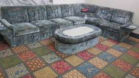 6 seater sofa set with center table