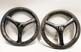 Wheelset fnhon 3spoke 16 349 carbonician