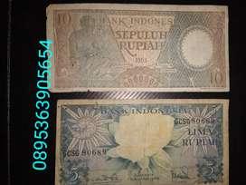 Uang kuno 5 & 10 Rupiah