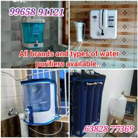 Ro and Uv water purifiers sales and service with 3 years warranty..