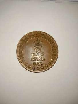 UK Half Anna coin