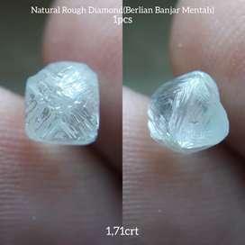 Berlian Banjar Mentah 1.71 Carat Natural Rough Diamond