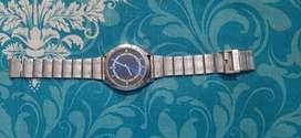 Sonata analog stainless steel men's watch
