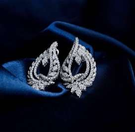 Imported Diamond & White Gold Jewellery Complete Set