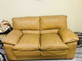 Comfortable leatherite two seater sofa