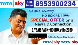 TataSky Annual Pack Launch with HD BOX at Rs 2150 Airtel Dish D2H
