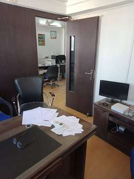 For Rent 475sq.fit Fully Furnish Office With Computer . CG Road.