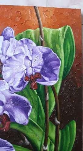 Morning cattalhya oil on kanvas 100x80cm