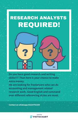 Academic Writers/ Research Analysts