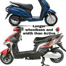 Electric scooter with lithium battery