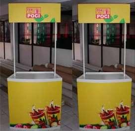 Buat Event Desk Papan Nama Akrilik Sticker Neon Box Stiker Kaca Murah
