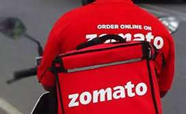 =food delivery Job's Zomoto immediately joining