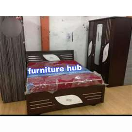New bedroom set in brown and white colour design