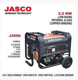 Jasco J3500DC 2.5 kva Golden Generator New  1 Year Service warranty