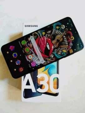Samsung a30 black komplit normal jaya