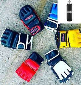 Glove Mma Leather Half Mitts Ufc Muay Thai Gloves One Pair Mixed Marti