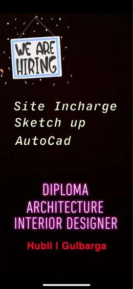 Site Incharge, Auto-Cad, sketchup