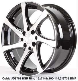 Velg Dewata QUBIC JD8709 HSR R16X7 H8X100-114,3 ET38 BMF