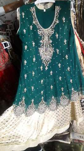 Shafoon and net ladies 3pc suits of cheap rates available.