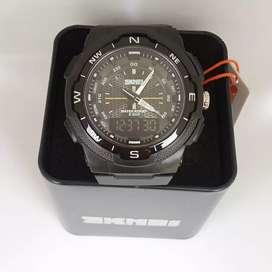 SKMEI 1454 Black ORIGINAL waterresist jam tangan malang free cod