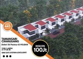 PROMO DISKON 100 jta Rumah 1 lantai di Tamansari Hanjuang