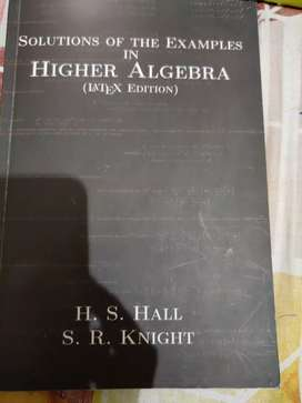 Solutions of the examples in higher algebra