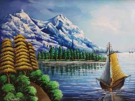 Handmade canvas painting