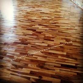 lantai kayu parket flooring  jati murah, buat gedung olahraga