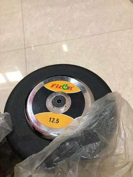 New 12.5kg dumbell pair