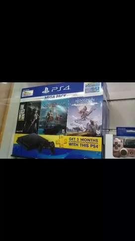 Kredit PS4 Slim Mega Pack harga promo stik 2 game 3