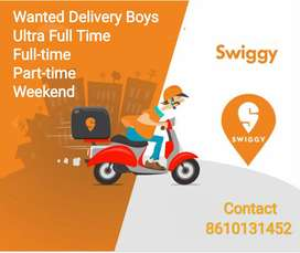SWIGGY FOOD DELIVERY - ADYAR - REQUIRED BOYS & GIRLS