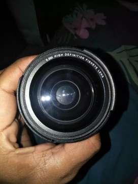 Lensa 0.35x high fisheye  58 mm