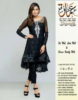 Black lady suit for functions on WM fabrics