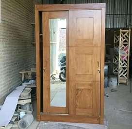 Almari jati minimalis pintu sleding_$anggar jati/022