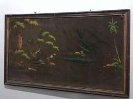 Lukisan kanvas lawas